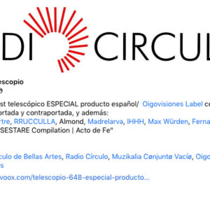 """""""La voz de M4R2L"""" en El Telescopio, Radio Círculo, Madrid"""