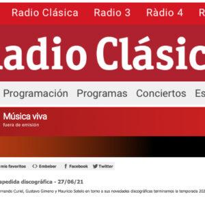 """""""Escenasonica"""" en Música Viva, de Radio Clásica, Madrid"""