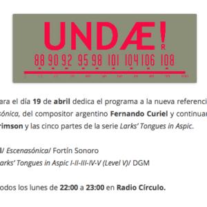 «Escenasonica» en UNDAE Radio / Radio Círculo